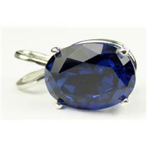 SP004, Created Blue Sapphire, 925 Sterling Silver Pendant