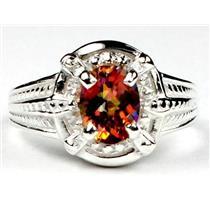 SR284, Twilight Fire Topaz, 925 Sterling Silver Ring