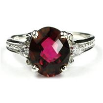 SR136, Crimson Topaz, 925 Sterling Silver Ring