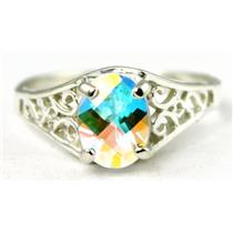 Mercury Mist Topaz, 925 Sterling Silver Ring, SR005