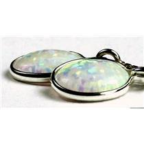 SE005, Created White Opal, 925 Sterling Silver Threader Earrings