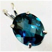 SP002, London Blue Topaz 925 Sterling Silver Pendant