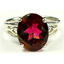 SR139, Crimson Fire Topaz, 925 Sterling Silver Ring