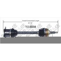 TO-8008 CV Axle Shaft - New, Front-Left/Right Fits 91-97 Previa AWD Front