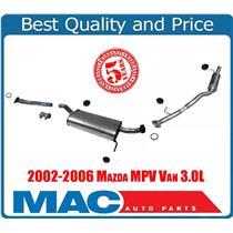 02-06 MPV Van New Middle Muffler and Rear Tail Pipe Muffler 56158 54400