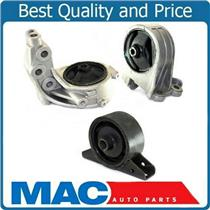 01-05 Stratus Sebring Coupe 99-03 Galant 3.0L Front Rear Engine Motor Mounts 3pc