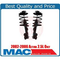 Two Front Strut & Coil Spring Assembly for Altima 2.5L 2002-2006 W/Warranty New