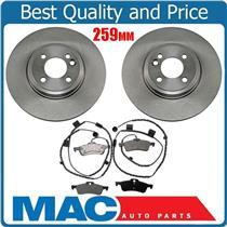 Uquality 34232 Disc Brake Rotor, Rear (2) Plus Pads & Sensor Call Check Info