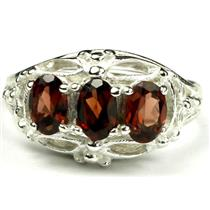 SR163, Mozambique Garnet, Sterling Silver Ring