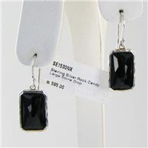 Ippolita Earrings Rock Candy  Large Rectangular Black Onyx Sterling Silver NWT $595