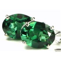 SE003, Russian Nanocrystal Emerald, 925 Sterling Silver Threader Earrings