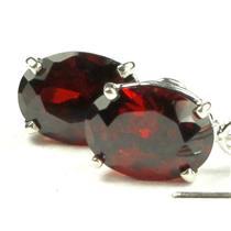 SE003, Garnet CZ, 925 Sterling Silver Threader Earrings