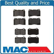 (2) Sets Ceramic Frt & Rr Brake Pads For 2004-2007 CTS Type V