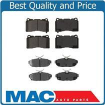(2) Sets Ceramic Frt & Rr Brake Pads For Mustang Shelby 2008-2014