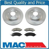(2) Front Brake Rotors & Ceramic Pads For 07-09 Chrysler Aspen