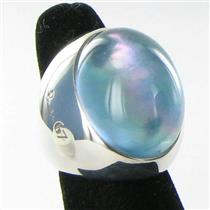 Pomellato Pinctada Maxima Green Tinted Agate Ring Sterling Silver Sz 6 52  New $870