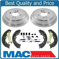 (2) Brake Drums Shoes & Brake Springs For 06-11 Rio 07-11 Accent