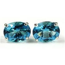 SE002, Paraiba Topaz, 925 Sterling Silver Earrings