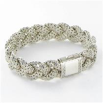 John Hardy Classic Chain BB99104XM Foxtail Bracelet Medium Sterling 925 New $850