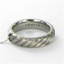 David Yurman 6mm Modern Cable Band Titanium Ring Sz 10.5 Mens Gray  NWT $325