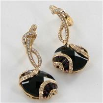 Bellarri Earrings Gigi 0.50cts Diamonds 16.9cts Rhodolite 18k Rose Gold NEW $5665