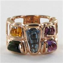 Bellarri Ring Sz 7 54 Marquesa Citrine Amethyst Green Tourmaline Blue Topaz 14k Rose Gold NEW $2500