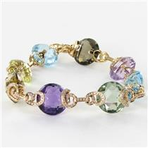 Bellarri Bracelet Caberet 0.93cts Diamonds 67.9cts Mixed Gems 18k Rose Gold New $12970 ***New Withou