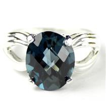 SR361, London Blue Topaz, 925 Sterling Silver Ring
