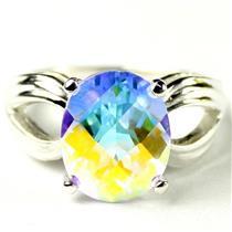 SR361, Mercury Mist Topaz, 925 Sterling Silver Ladies Ring