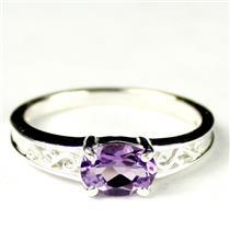 SR362, Amethyst, 925 Sterling Silver Ladies Ring