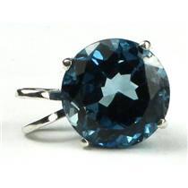 SP088, London Blue Topaz 925 Sterling Silver Pendant