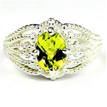 SR365, Peridot, 925 Sterling Silver Ladies Ring