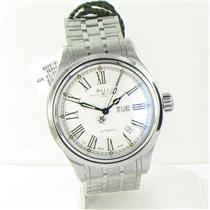 Ball Trainmaster 60 Seconds NM1058D-S4J-WH 40mm Roman Dial Steel Watch NWT $1999
