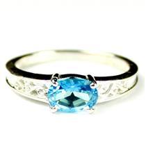 Paraiba Topaz, 925 Sterling Silver Ladies Ring, SR362