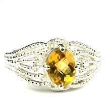 SR365, Citrine, 925 Sterling Silver Ladies Ring
