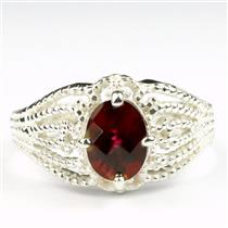 SR365, Crimson Fire Topaz, 925 Sterling Silver Ladies Ring