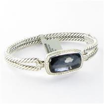 David Yurman Albion Diamond Bracelet Black Orchid 0.43cts Sterling NWT $2700