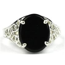 SR057, Black Onyx, 925 Sterling Silver Ring