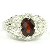 SR365, Mozambique Garnet, 925 Sterling Silver Ring