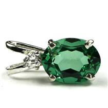 SP021, Russian Nanocrystal Emerald, 925 Sterling Silver Pendant
