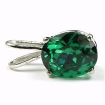 SP002, Russian Nanocrystal Emerald, 925 Sterling Silver