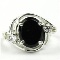 SR021, Black Onyx, 925 Sterling silver Ring