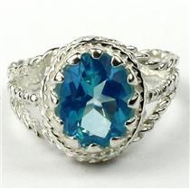 Paraiba Topaz, 925 Sterling Silver Ring, SR070
