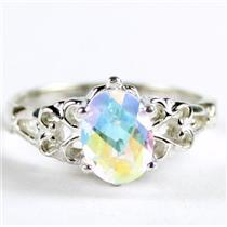 SR302, Mercury Mist Topaz,  925 Sterling Silver Ring