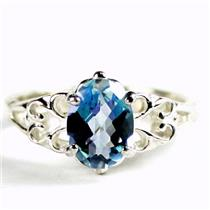 SR302 Neptune Garden Topaz, 925 Sterling Silver Ladies Ring