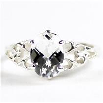 SR302,  Silver Topaz, 925 Sterling Silver Ladies Ring