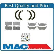 06-10 Hummer H3 FRONT & REAR Ceramic Disc Pads Parking Brake Shoes & Springs 4Pc