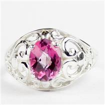 Pure Pink Topaz, 925 Sterling Silver Ring, SR111
