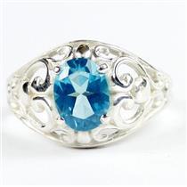 Paraiba Topaz, 925 sterling Silver Ladies Ring, SR111
