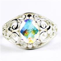 Mercury Mist Topaz, 925 Sterling Silver Ladies Ring, SR111